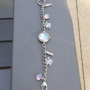 Vtg and rare Barbie charm bracelet/watch